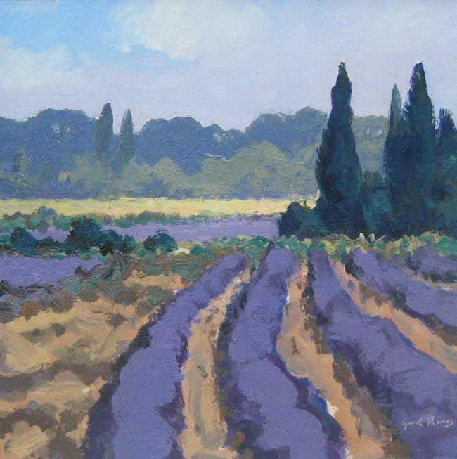 Gareth Thomas, Lavender And Corn Field