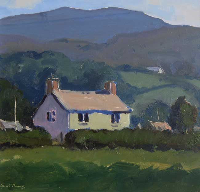 Gareth Thomas, Sunlit House - Towy Valley