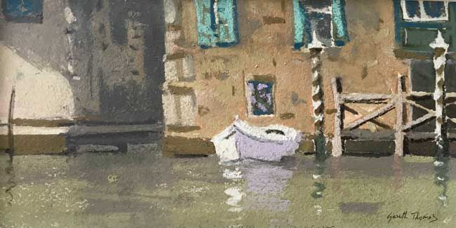 Gareth Thomas, White Boat, Grand Canal Venice