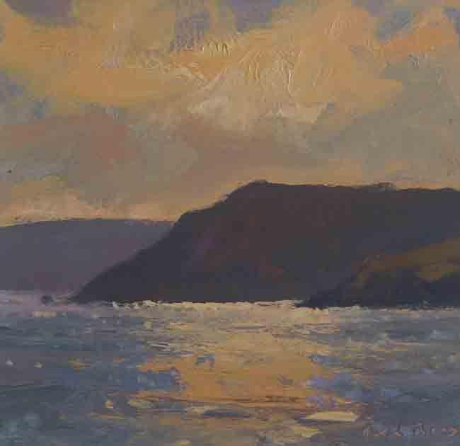 Gareth Thomas, Winter Sunset, Caswell