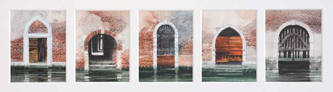 Naomi Tydeman RI, Five Venetian Doorways 1