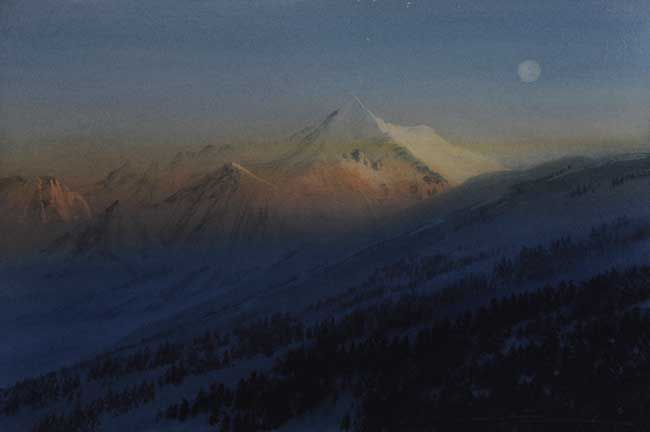 Naomi Tydeman RI, Moonlight Italian Alps