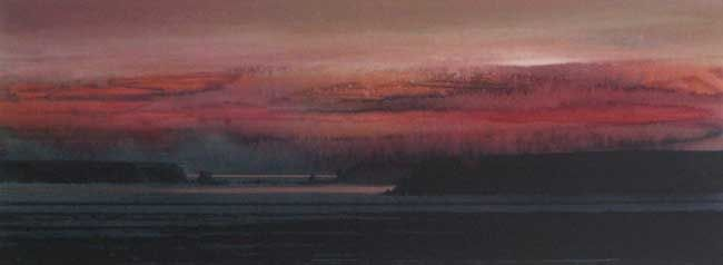 Naomi Tydeman RI, Sunset, South Beach Tenby