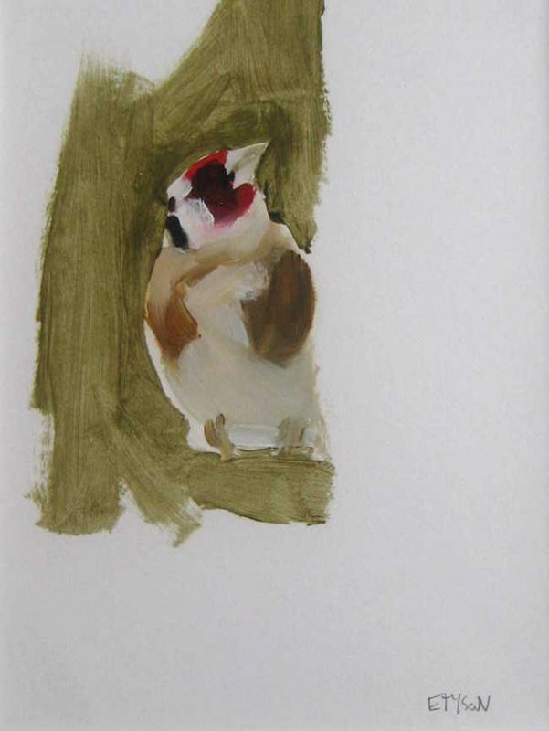 Esther Tyson, Goldfinch On Feeder 2