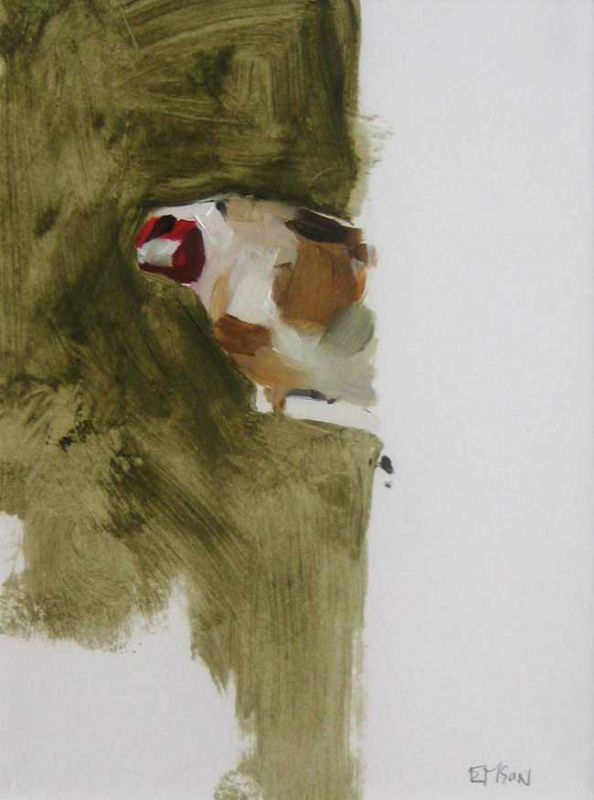 Esther Tyson, Goldfinch On Feeder 3