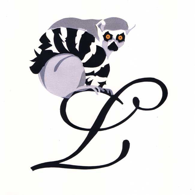 Esther Tyson, L Is For Lemur (unframed)