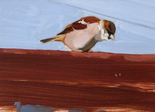 Esther Tyson, Roof Top, Young Sparrow 1