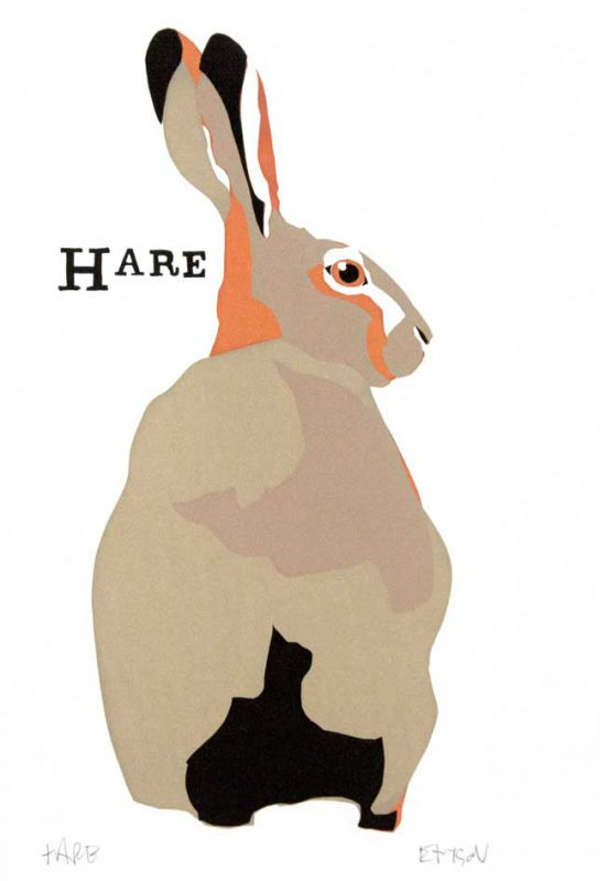 Esther Tyson SWLA, H Is For Hare (unframed)
