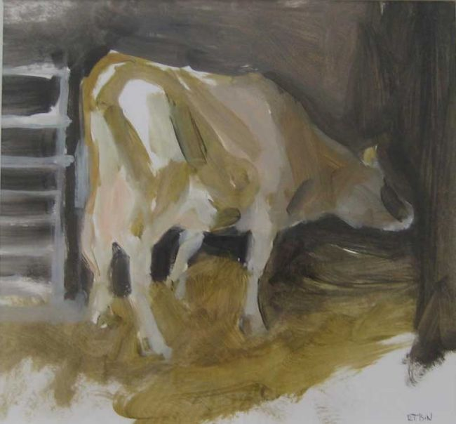 Esther Tyson, The Cows Up At Sunday Meadow 2