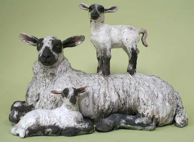 Sallie Wakley, Ewe And Lambs