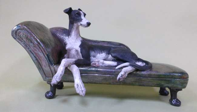 Sallie Wakley, Greyhound Chaise Longue