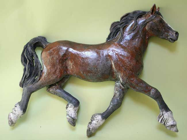 Sallie Wakley, Horse Wall Piece 2