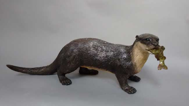 Sallie Wakley, Otter With Fish