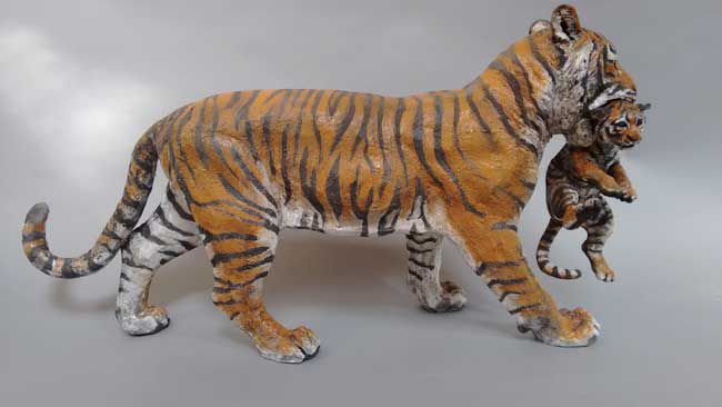 Sallie Wakley, Tiger With Cub