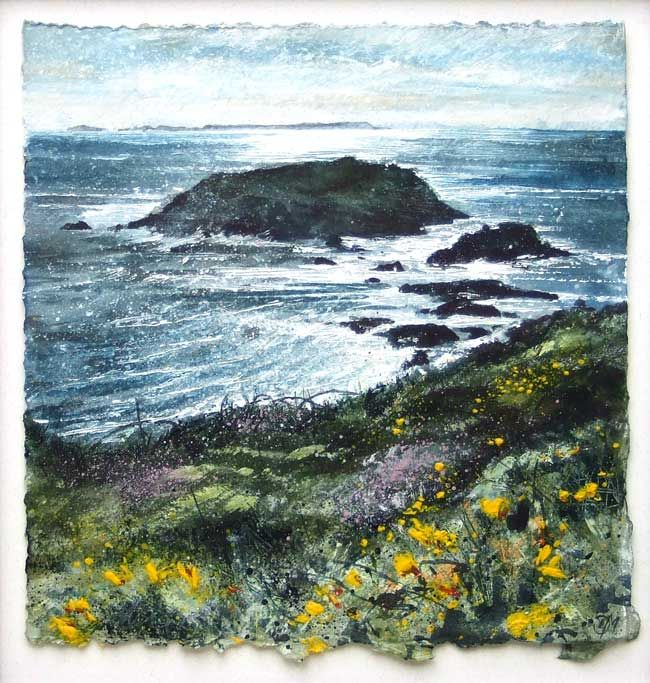 Deborah Walker RI, Sun, Sea And Carreg Fran