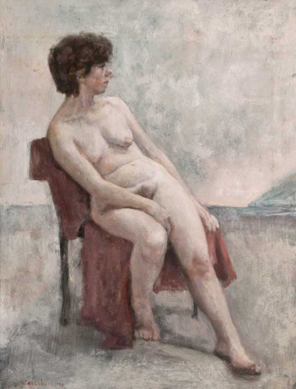 George Weissbort, Nude On Red