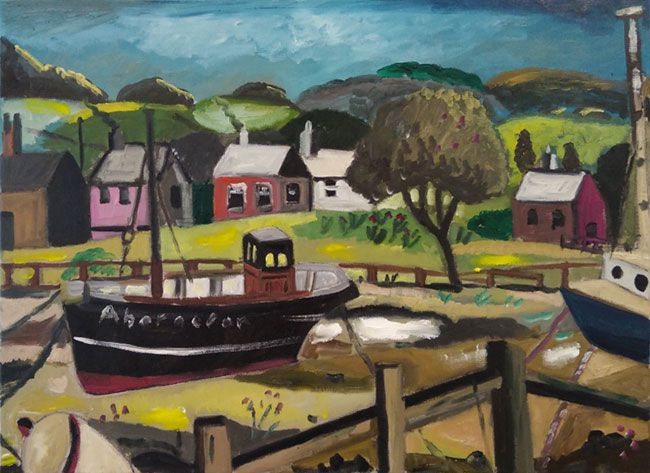 Emrys Williams, Aberaeron Boats (gallery collection only)