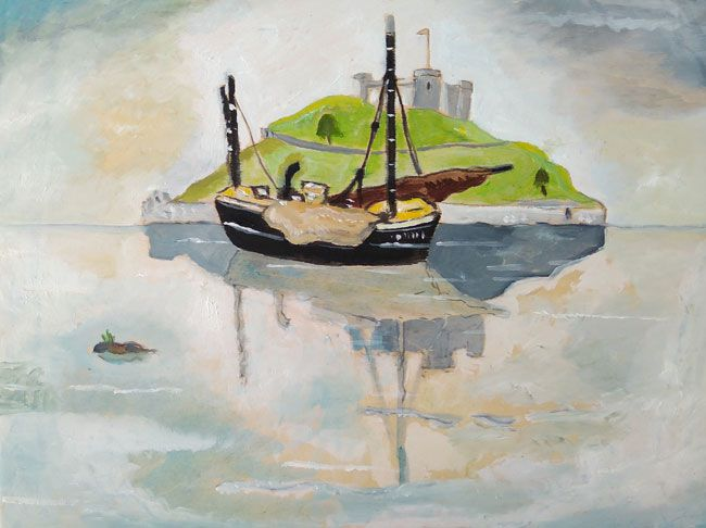 Emrys Williams, Boat Near An Island