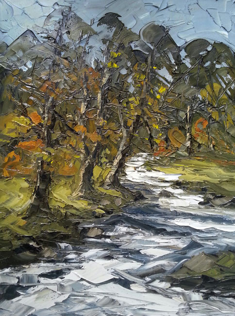 Martin Llewellyn, Trees And Stream