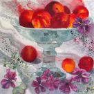 Tywi Valley Open Studios Artist, Nectarines 1 by Janis Fry
