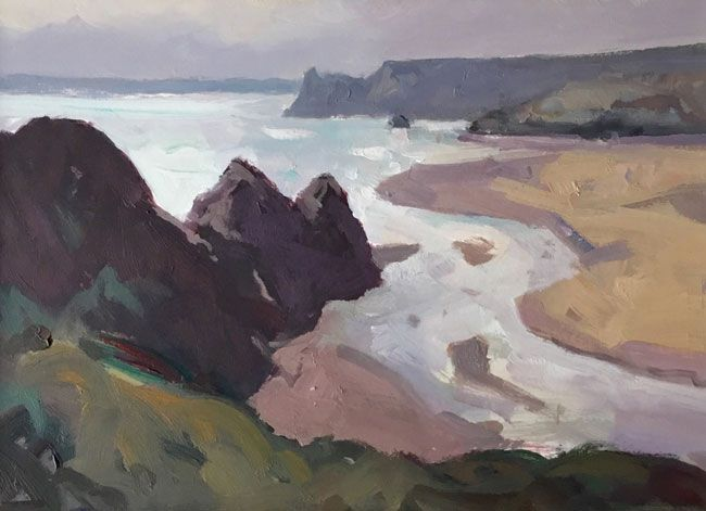 Gareth Thomas (1955-2019), Light Over Three Cliffs