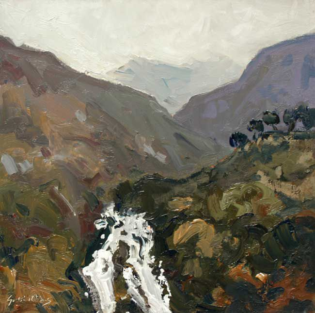 Gareth Thomas (1955-2019), Waterfall, Watkin Path